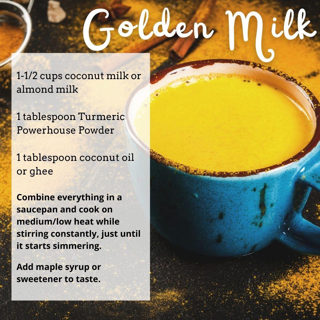 Golden Milk Recipe with Turmeric Powerhouse Powder