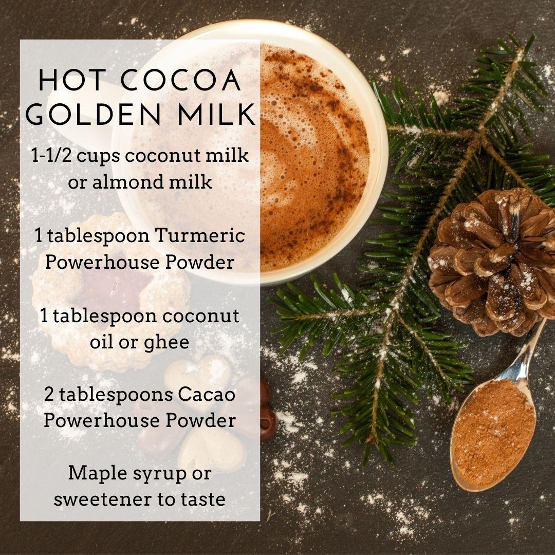 Cacao Powerhouse and Turmeric Powerhouse Powders