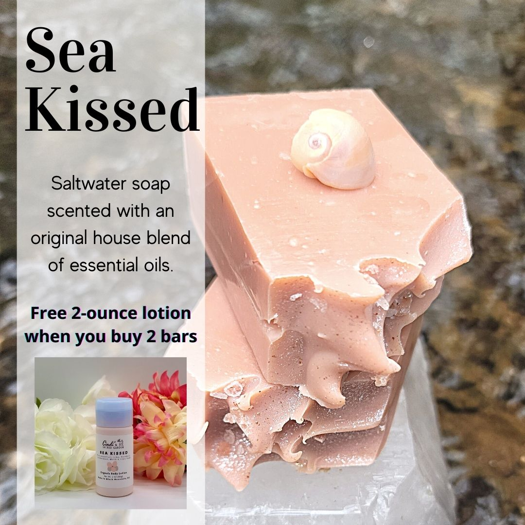 Free Lotion with 2 Bars of Sea Kissed Soap