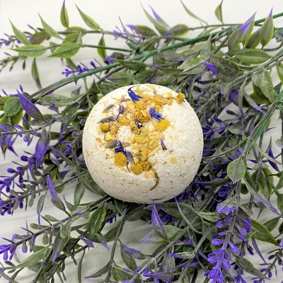 Calming Lavender Hemp Mini Bath Bomb
