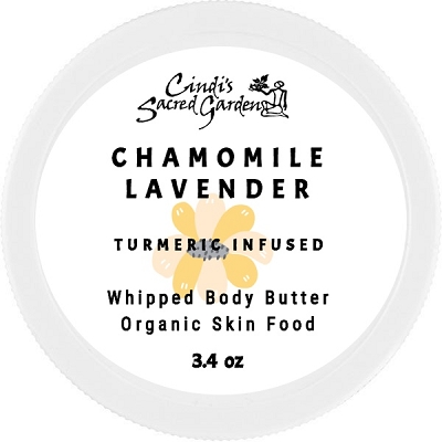 Calming Chamomile Turmeric Infused Whipped Body Butter
