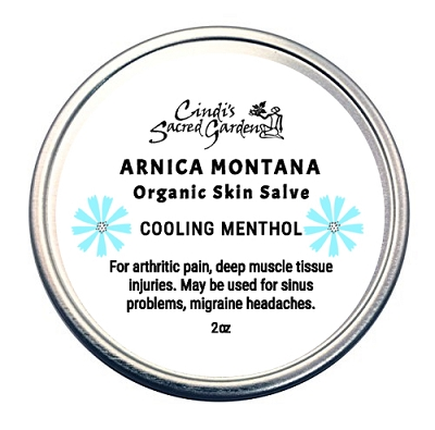 Arnica Montana with Menthol Deep Tissue Organic Skin Salve