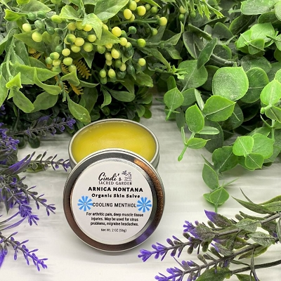 Cooling Arnica Montana with Menthol Deep Tissue Organic Skin Salve