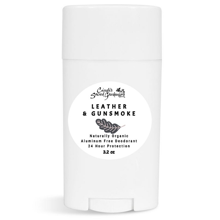 Leather and Gunsmoke Natural Deodorant