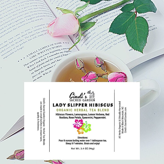 Lady Slipper Hibiscus Herbal Tea - Large Pouch